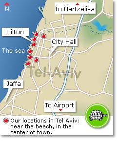 our locations in Tel-Aviv